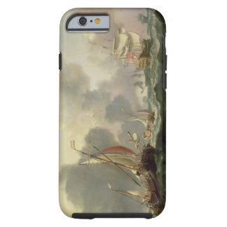 Dutch Pinks and a British Frigate in Choppy Seas Tough iPhone 6 Case