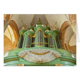 Dutch pipe organ card