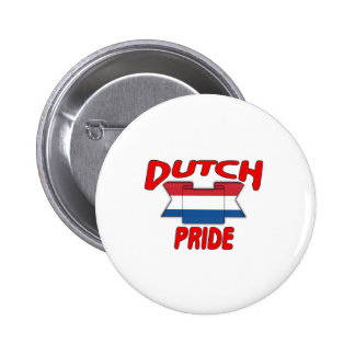 Dutch pride pinback button