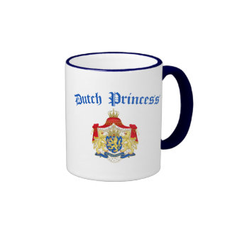 Dutch Princess (Holland Coat of Arms) Ringer Mug