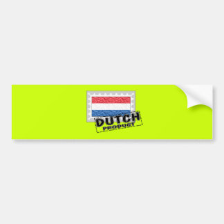 Dutch product bumper sticker