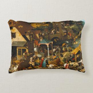 Dutch Proverbs by Pieter Bruegel the Elder Accent Pillow