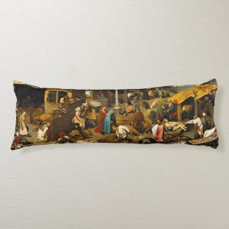 Dutch Proverbs by Pieter Bruegel the Elder Body Pillow