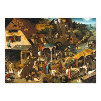 Dutch Proverbs by Pieter Bruegel the Elder Card