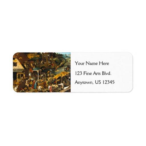 Dutch Proverbs by Pieter Bruegel the Elder Labels
