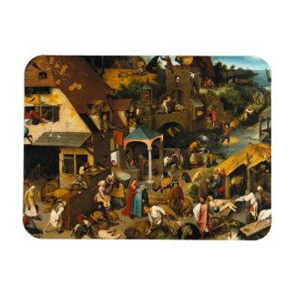 Dutch Proverbs by Pieter Bruegel the Elder Magnet
