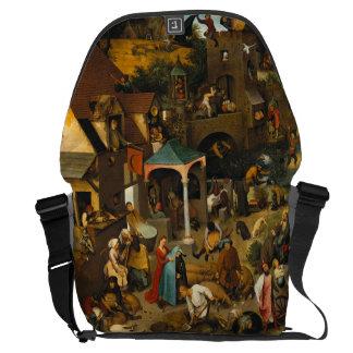 Dutch Proverbs by Pieter Bruegel the Elder Messenger Bag