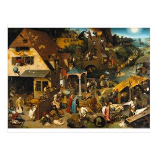 Dutch Proverbs by Pieter Bruegel the Elder Postcard