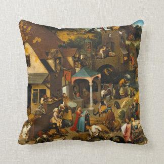 Dutch Proverbs by Pieter Bruegel the Elder Throw Pillow