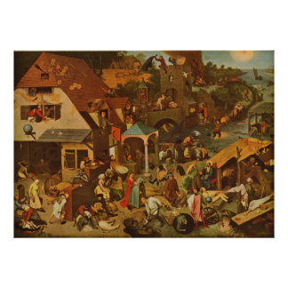 Dutch Proverbs (Netherlandish Proverbs) (1559) Poster