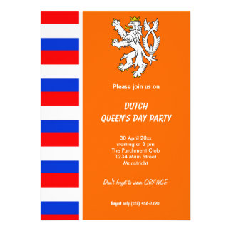 Dutch Queen s day Koninginnedag Invites