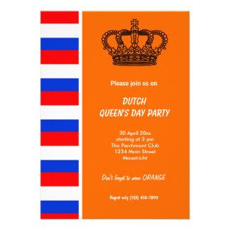 Dutch Queen s day Koninginnedag Custom Announcements