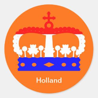 Dutch Queen's day Classic Round Sticker