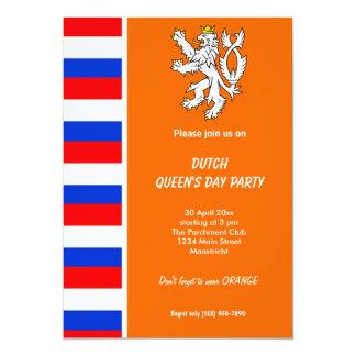 Dutch Queen's day (Koninginnedag) 5x7 Paper Invitation Card