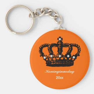 Dutch Queen's day (Koninginnedag) Basic Round Button Keychain