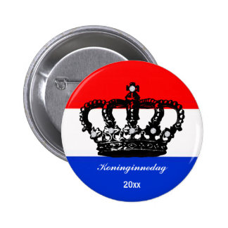 Dutch Queen's day (Koninginnedag) 2 Inch Round Button