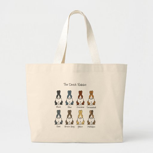 Dutch Rabbit Colours Large Tote Bag
