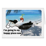 Dutch rabbit in happy place greeting card