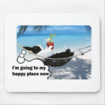 Dutch rabbit in happy place mouse pad