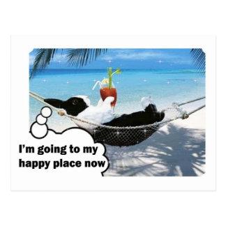 Dutch rabbit in happy place postcard