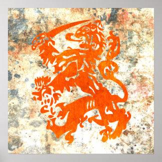 Dutch Republic Lion Poster