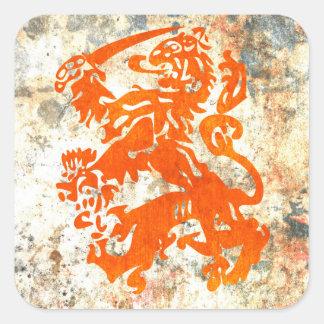 Dutch Republic Lion Square Sticker