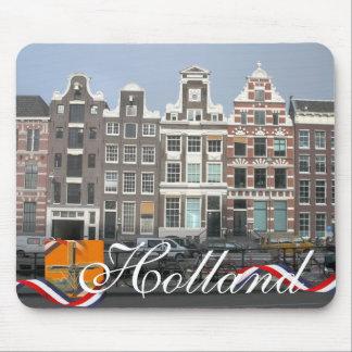 Dutch Row Houses Holland Text Souvenir Mousepad