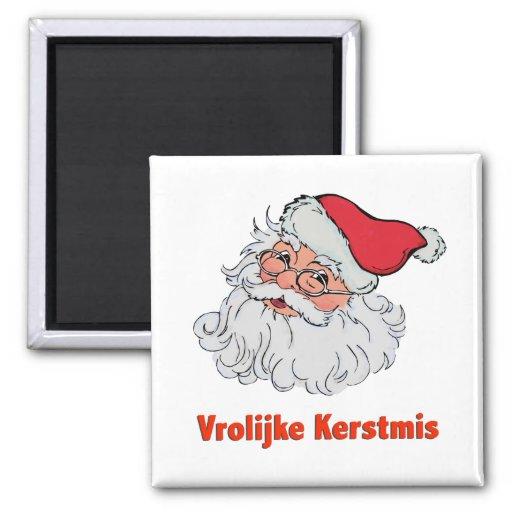 Dutch Santa Claus 2 Inch Square Magnet