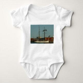Dutch Schooner In Danish Harbor Baby Bodysuit