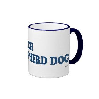 Dutch Shepherd Dog Blue Coffee Mugs