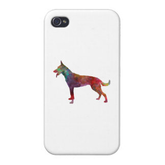 Dutch Shepherd Dog in watercolor iPhone 4/4S Cover