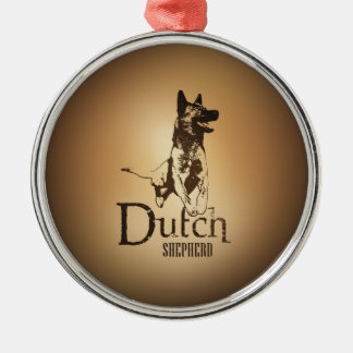 Dutch Shepherd - Dutchie Metal Ornament