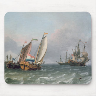 Dutch Shipping in a Choppy Sea Mouse Pad