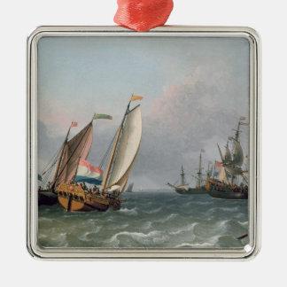 Dutch Shipping in a Choppy Sea Christmas Tree Ornaments