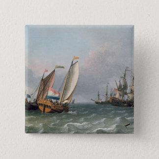 Dutch Shipping in a Choppy Sea Pinback Button