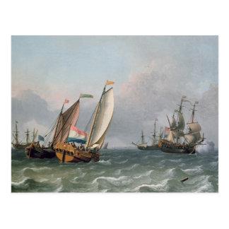 Dutch Shipping in a Choppy Sea Postcard