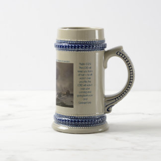 Dutch-Ships-in-Distress-off-a-Rocky-Coast-Backh... 18 Oz Beer Stein