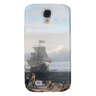 Dutch ships in the roadstead of Texel; in the midd Samsung Galaxy S4 Case