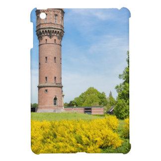 Dutch stone water tower with yellow broom flowers iPad mini case