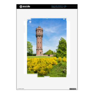 Dutch stone water tower with yellow broom flowers skin for iPad 2