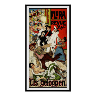 Dutch Theater Advertisement by C. Verschuuren Jr. Poster