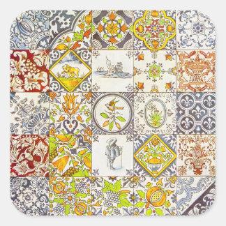 Dutch Tiles Square Sticker