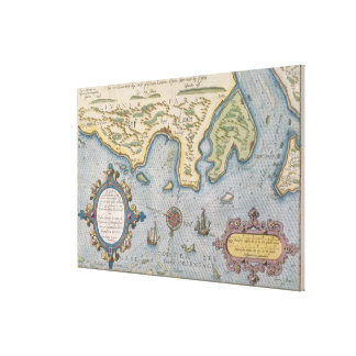 Dutch Trade map of the Baltic Sea Canvas Print