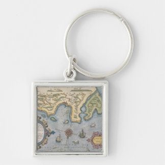 Dutch Trade map of the Baltic Sea Keychain