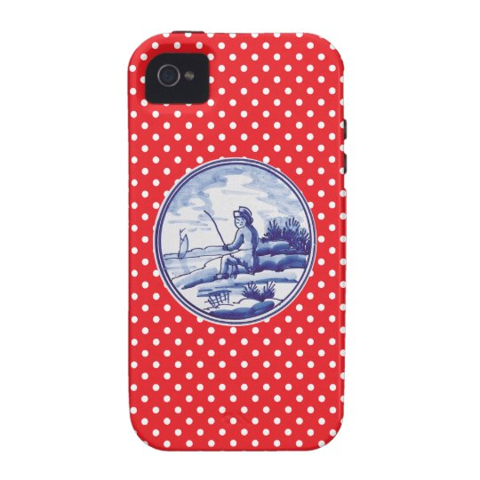 Dutch traditional blue tile iPhone 4 cover