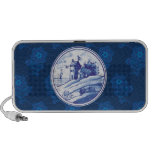 Dutch traditional blue tile iPod speakers