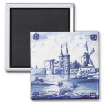 Dutch traditional blue tile refrigerator magnet