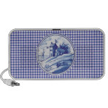Dutch traditional blue tile travel speakers