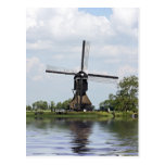 Dutch traditional windmill in Holland Postcard