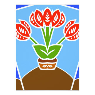 Dutch Tulips Abstract Card